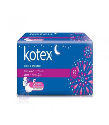 KOTEX S&S OVERNIGHT WING 28CM 7S